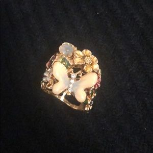 Guess Butterfly Floral Ring